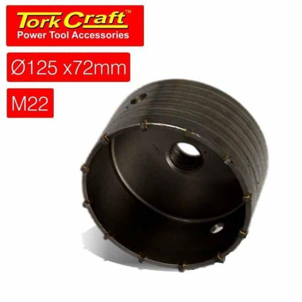 TORK CRAFT 125 X 72 M22 HOLLOW CORE BIT SOUTH AFRICA