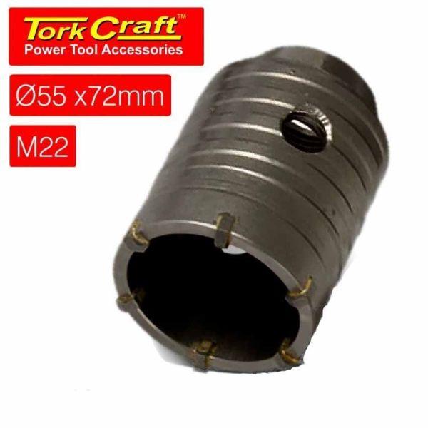 TORK CRAFT HOLLOW CORE BIT 55 X 72 M22 SOUTH AFRICA