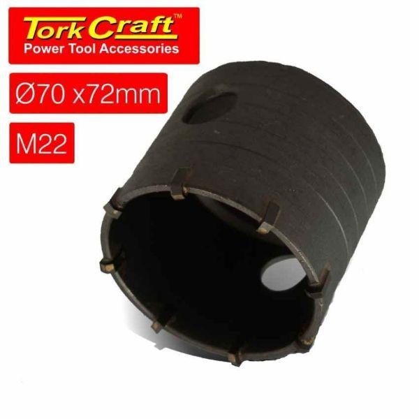 TORK CRAFT HOLLOW CORE BIT 70 X 72 M22 SOUTH AFRICA