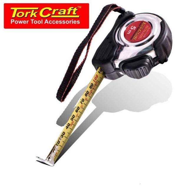 TORK CRAFT 5M X 19MM MEASURING TAPE SELF LOCK SOUTH AFRICA
