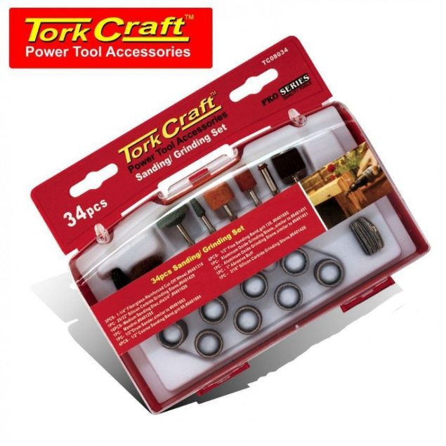 Picture of TORK CRAFT 34 PCE  MINI SANDING & GRINDING SET