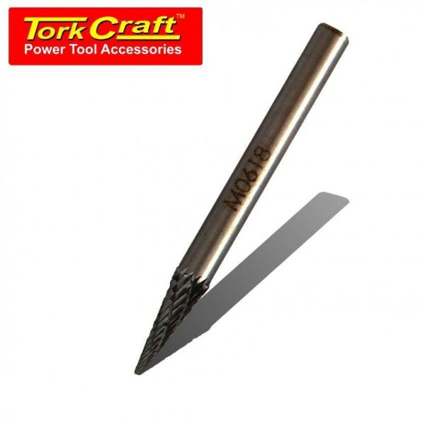 Picture of TORK CRAFT 6 X 6 X 18MM ROTARY BURR TUNGSTEN