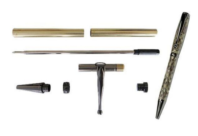 Picture of TOOLMATE FANCY SLIMLINE GUN METAL PEN KIT