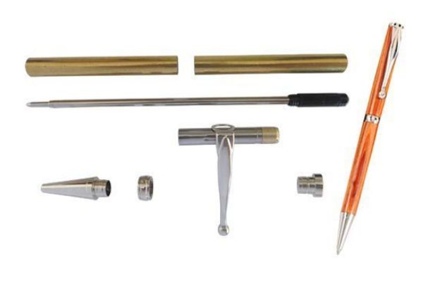 Picture of TOOLMATE FANCY SLIMLINE PLATINUM PEN KIT