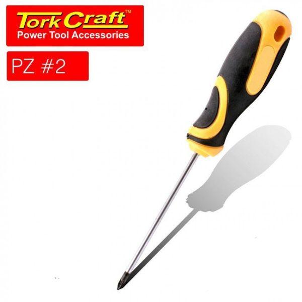 TORK CRAFT 2 X 100MM SCREWDRIVER POZI 2 SOUTH AFRICA