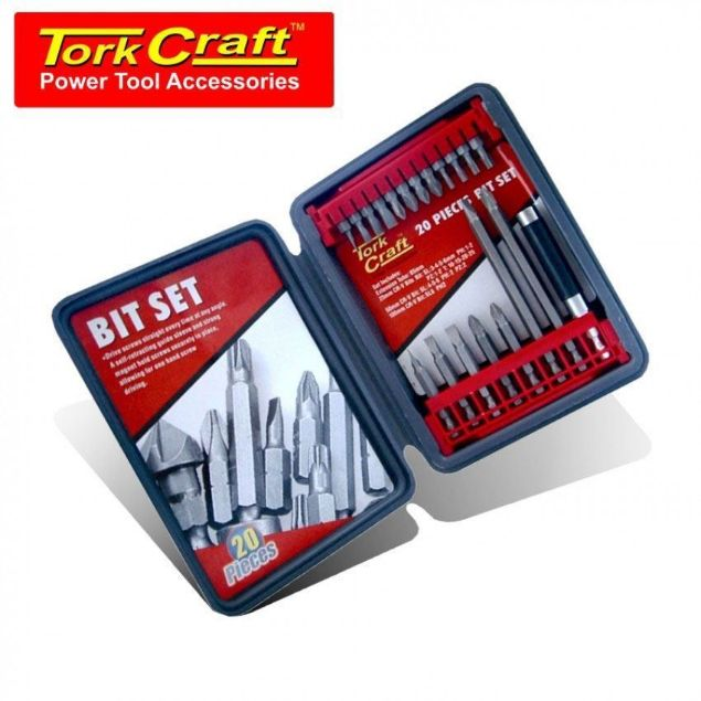 TORK CRAFT 20PCE SCREWDRIVING BIT SET SOUTH AFRICA