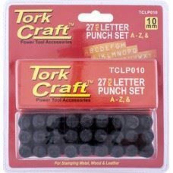 TORK CRAFT 10MM  PUNCH LETTER SET(A-Z) SOUTH AFRICA