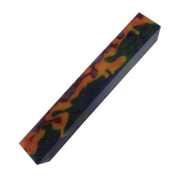 Picture of TOOLMATE CARNIVAL CAMOUFLAGE ACRYLIC PEN BLANK