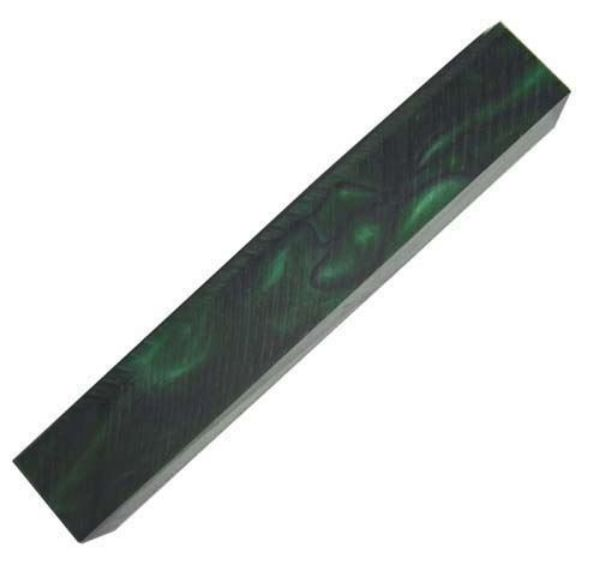 Picture of TOOLMATE DARK GREEN WITH BLACK LINE ACRYLIC PEN BLANK