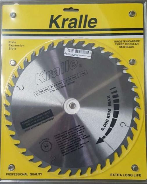 Picture of KRALLE 250X30X40T TCT SAW BLADE