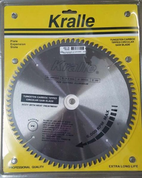 Picture of KRALLE 250X30X80T TCT SAW BLADE
