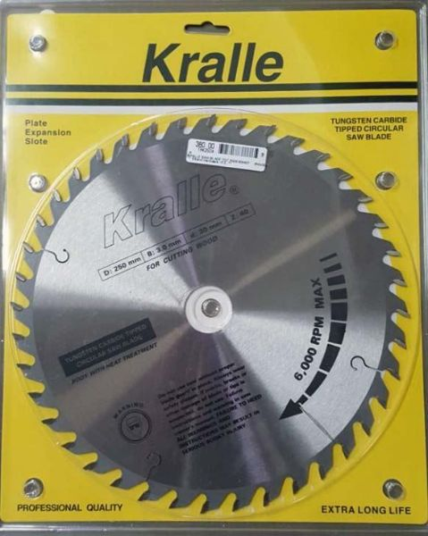 Picture of KRALLE  250X16X40T TCT SAW BLADE