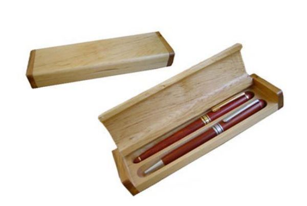 Picture of TOOLMATE DOUBLE WOODEN PEN BOX