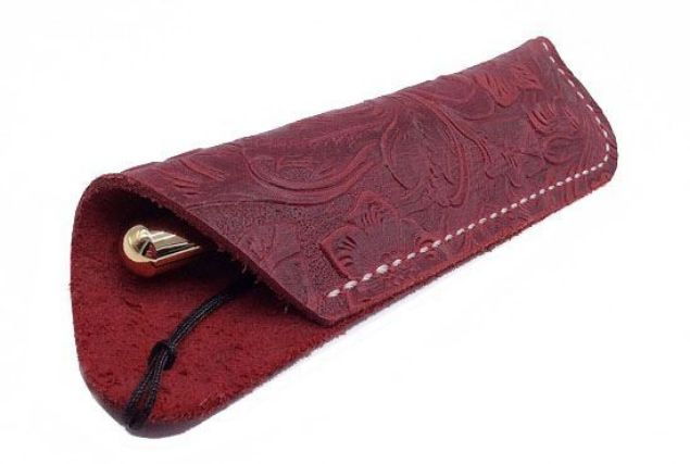Picture of TOOLMATE DARK RED HANDMADE LEATHER PEN SLEEVES