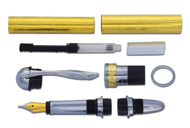 Picture of TOOLMATE JR. GENTLEMAN FOUNTAIN CHROME PEN KIT
