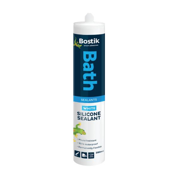 Picture of BOSTIK 280ML SILICONE BATH WHITE
