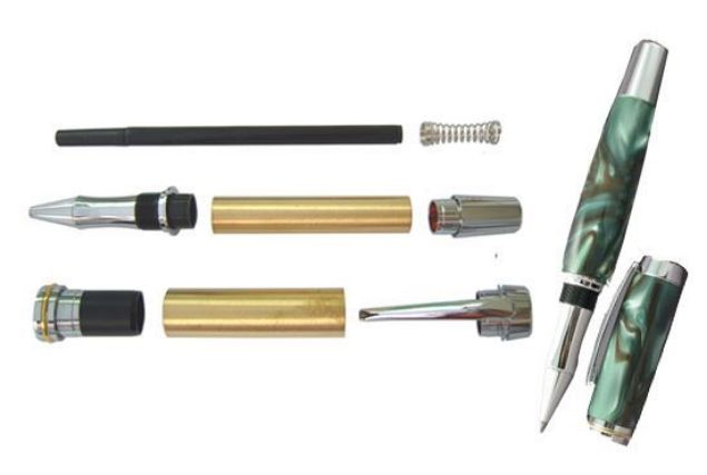 Picture of TOOLMATE LARGE JR. GENTLEMAN ROLLERBALL CHROME PEN KIT