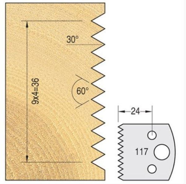 TREND KNIFE 40 MM X 4 MM TOOL STEEL NO. 117 - SOUTH AFRICA