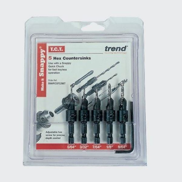 TREND SNAPPY COUNTERSINK SET 5 PIECE - SOUTH AFRICA