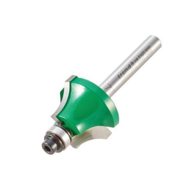 A 1Pc 6.35mm// 1//4 Shank Diameter 28.6mm Bowl and Tray Template Router bit Industrial Grade Two Flute Carbide Wood Mill Cutters N