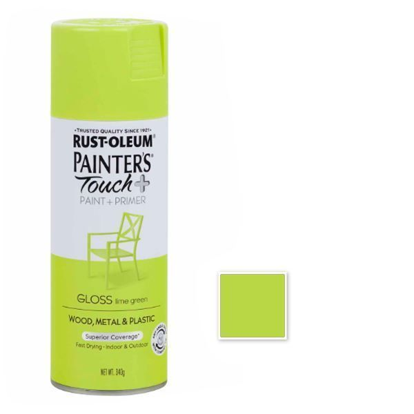 Rust-Oleum Spray Paint Gloss Lime Green Painters Touch