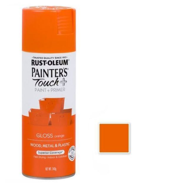 Rust-Oleum Spray Paint Gloss Orange Painters Touch