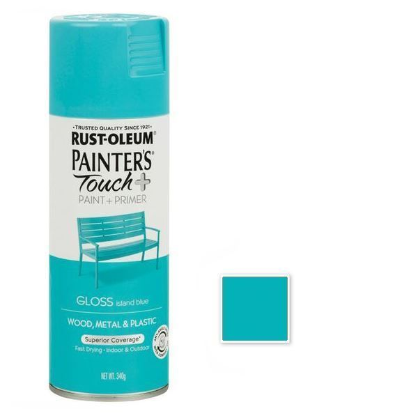 Rust-Oleum Spray Paint Gloss Island Blue Painters Touch