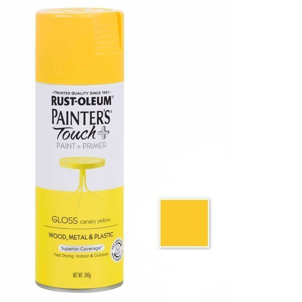 Rust-Oleum Spray Paint Gloss Canary Yellow Painters Touch