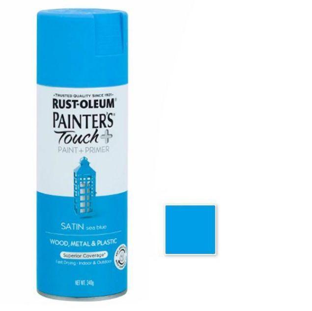 Rust-Oleum Spray Paint Satin Sea Blue Painters Touch