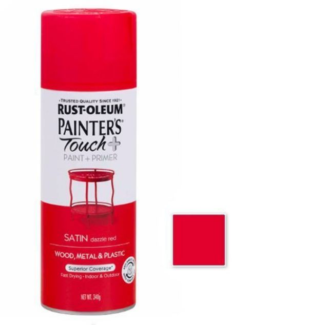 Rust-Oleum Spray Paint Satin Dazzle Red Painters touch