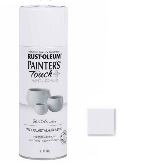 Rust-Oleum Spray Paint Gloss White Painters Touch