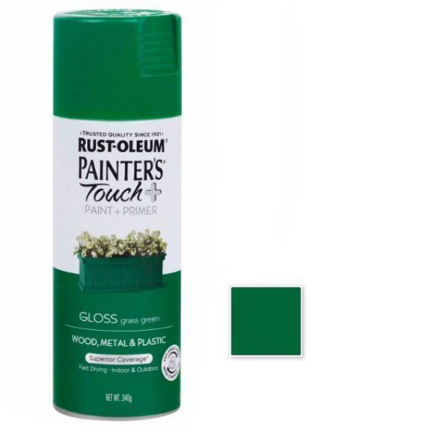 Rust-Oleum Spray Paint Gloss Grass Green Painters Touch