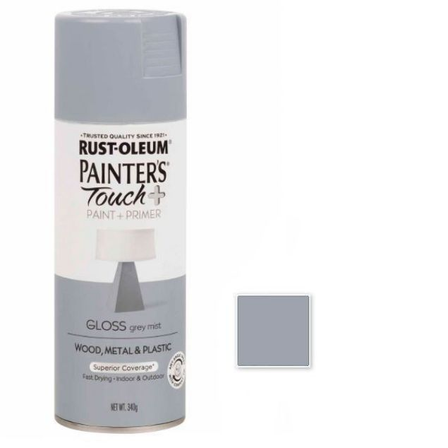 Rust-Oleum Spray Paint Gloss Grey Mist Painters Touch