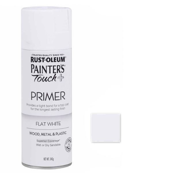 Rust-Oleum Spray Paint Flat White Painters Touch