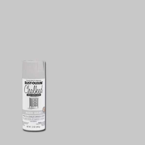 Rust-Oleum Chalked Spray Paint Aged Grey
