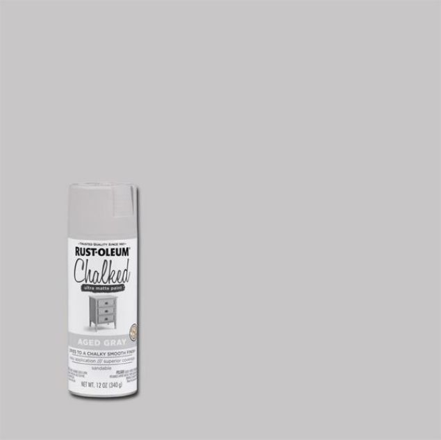 Rust-Oleum Chalked Spray Paint Aged Grey