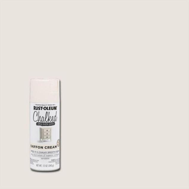 Rust-Oleum Chalked Spray Paint Chiffon Cream