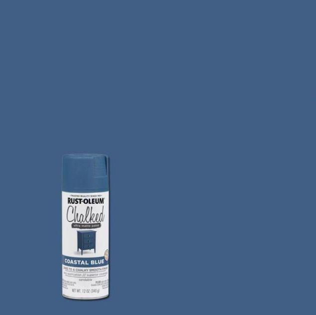 Rust-Oleum Chalked Spray Paint Coastal Blue