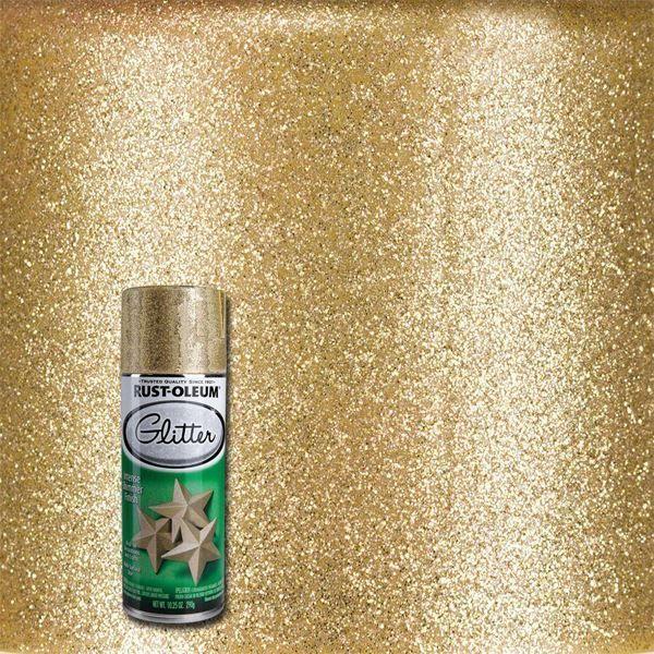 Rust-Oleum Spray Paint Glitter Gold
