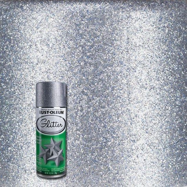 Rust-Oleum Spray Paint Glitter Silver