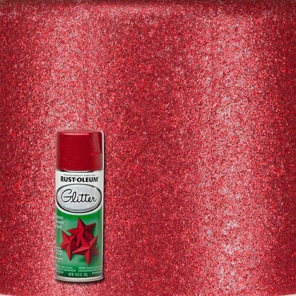 Rust-Oleum Spray Paint Glitter Red