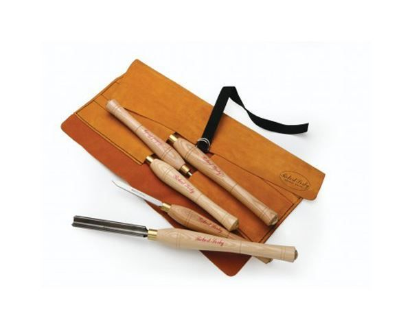 Robert Sorby Set Woodturning Chisels piece 5 Leather Roll South Africa