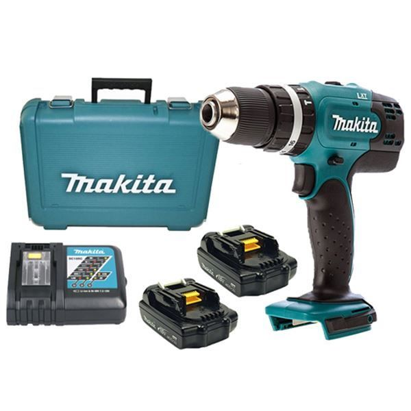Picture of Makita DHP453RYE 18V Li-Ion Cordless Impact Driver Drill Kit