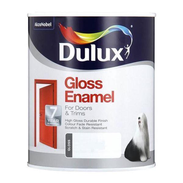 DULUX GLOSS ENAMEL BRILLIANT WHITE PAINT 5L