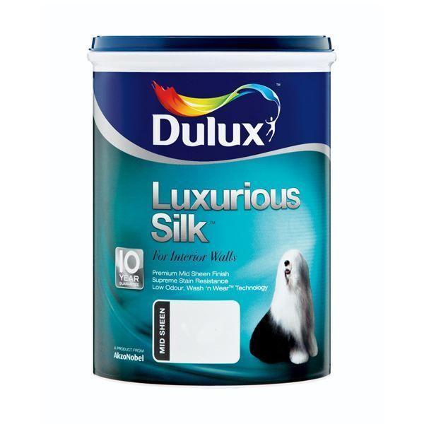 DULUX LUXURY SILK BRILLIANT WHITE PAINT 5L