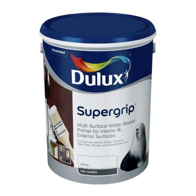 Picture of DULUX SUPERGRIP WHITE 5L