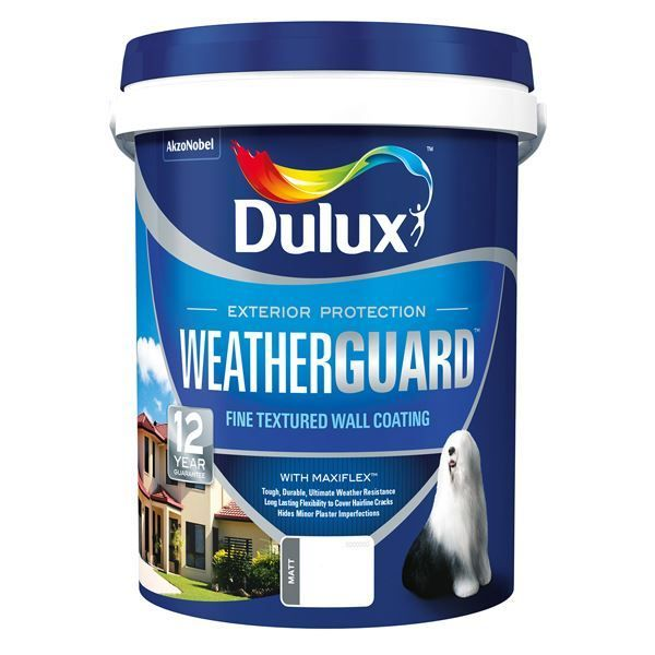 Picture of DULUX WEATHERGUARD BRILLIANT WHITE 20L