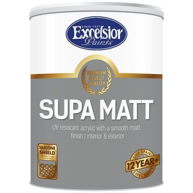 Picture of EXCEL PREMIUM SUPA MATT WHITE 5 LTR