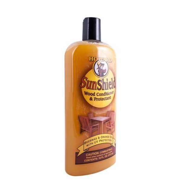 HOWARD SUNSHIELD OUTDOOR FURNITURE WAX 16 FL OZ
