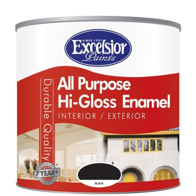 Picture of EXCELSIOR ALL PURP HIGH GLOSS ENAMEL BLACK 5LTR